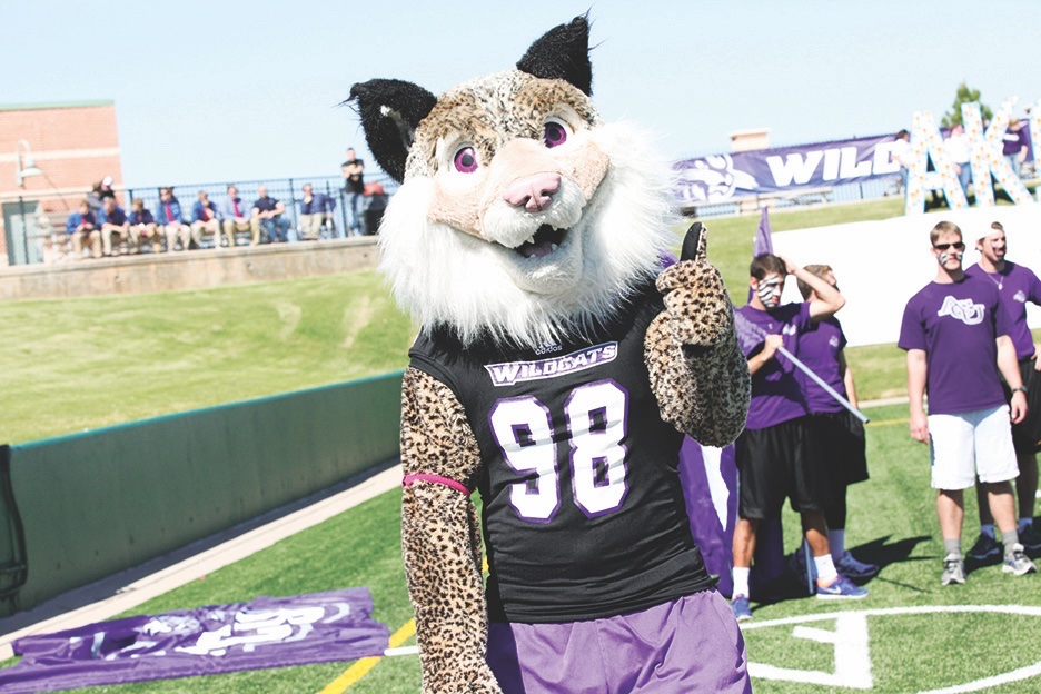 Willie the Wildcat, the Mascot for ACU Athletics