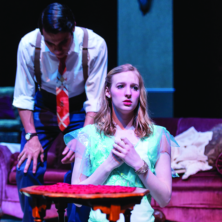 Alumnus Ben Jeffery as Pumbaa in the Lion King