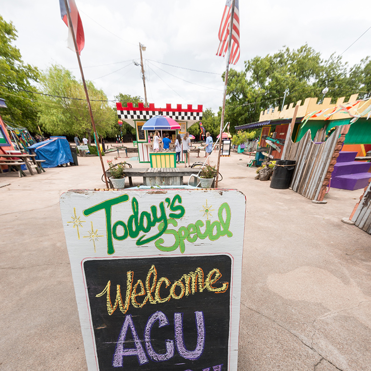 Play Fair Park ACU welcome Sign