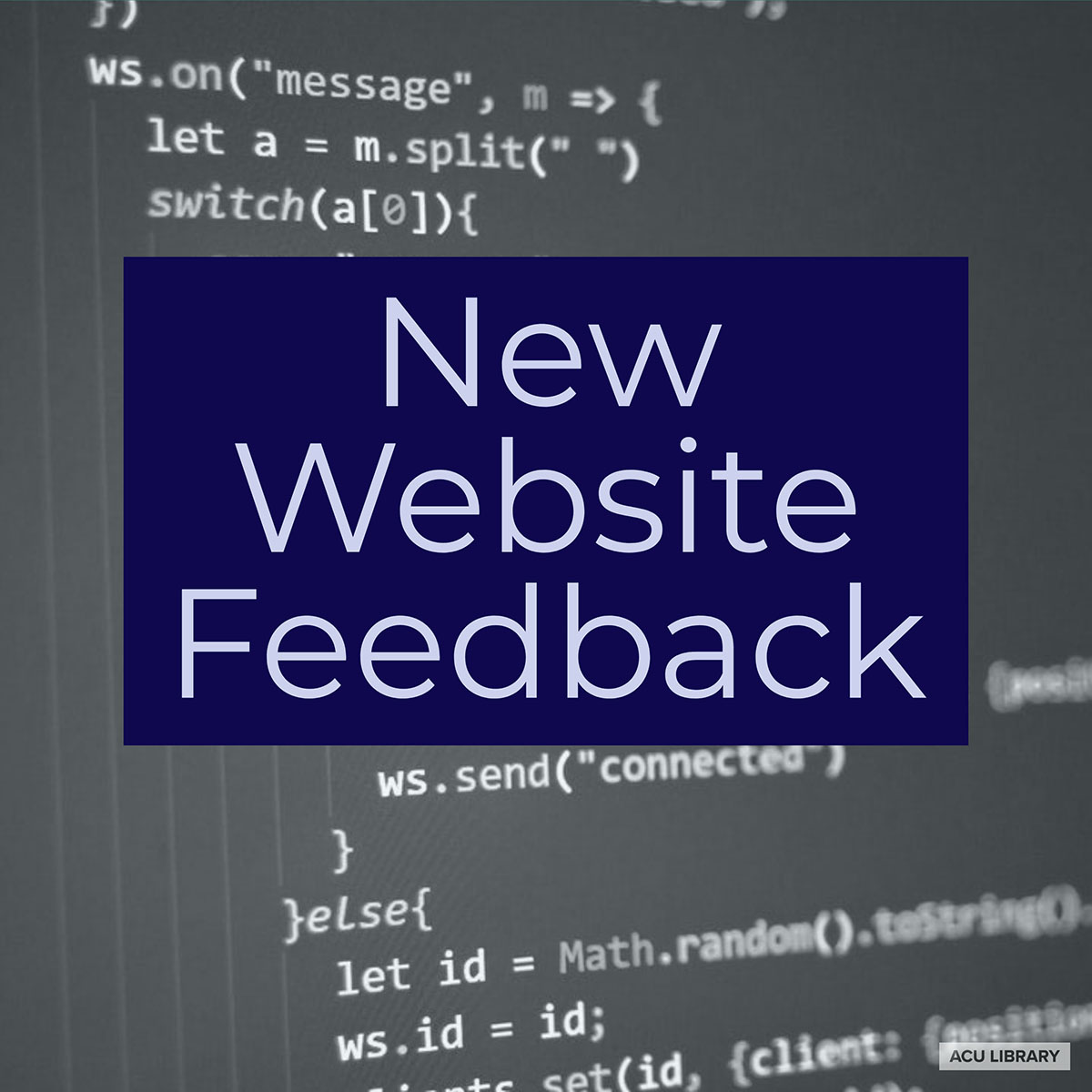 Library's New Website Feedback