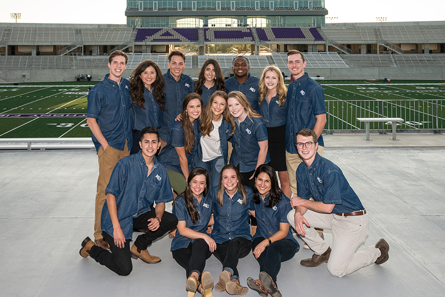Group photo of campus tour guides