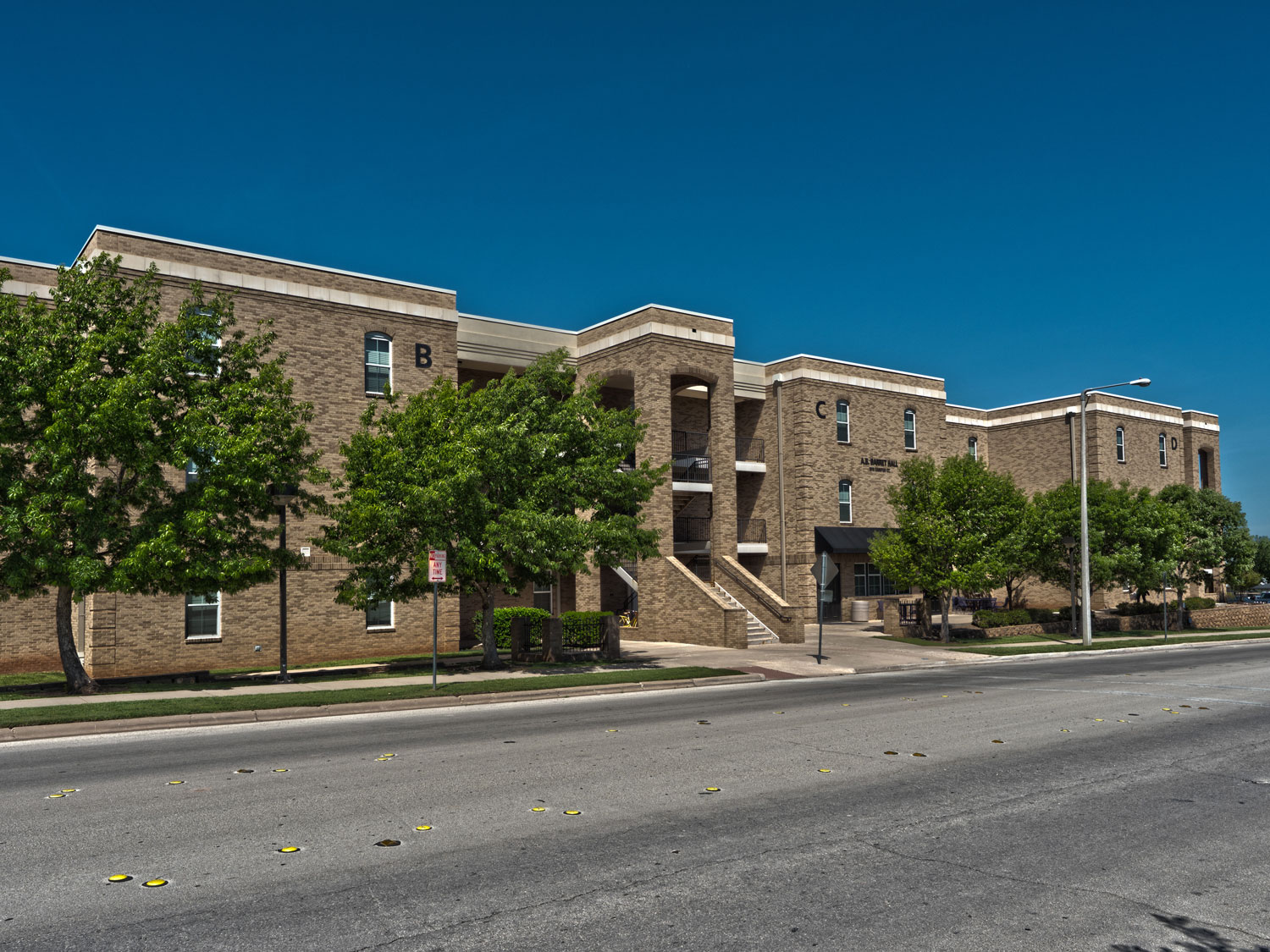 Exterior photo of Barret Hall