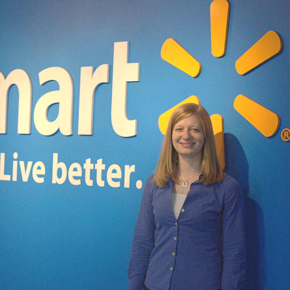 Caitlin Winegeart at the Walmart Corporate Headquarters during her internship